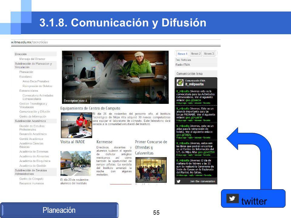 3.1.8. Comunicación y Difusión