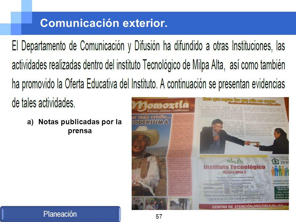 Comunicación exterior.