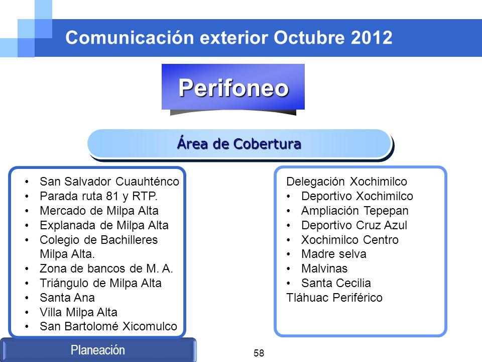 Comunicación exterior Octubre 2012