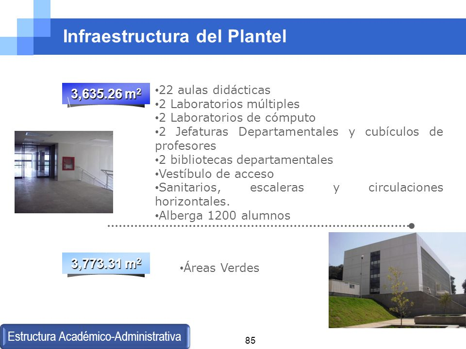 Infraestructura del Plantel