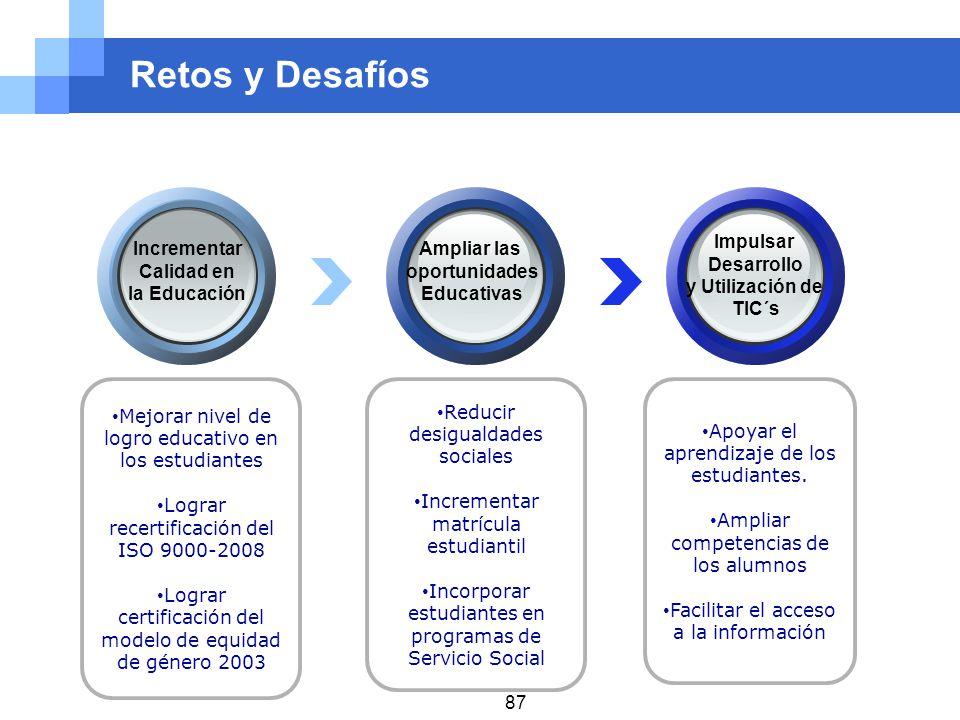 Retos y Desafíos Impulsar Desarrollo y Utilización de TIC´s