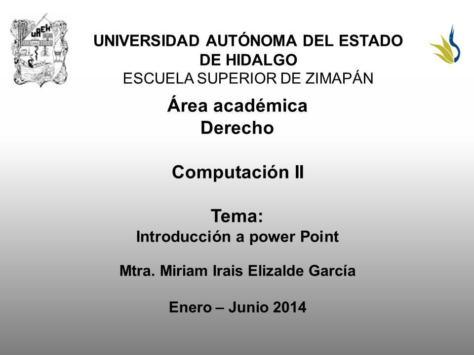 Área académica Derecho Computación II Tema: