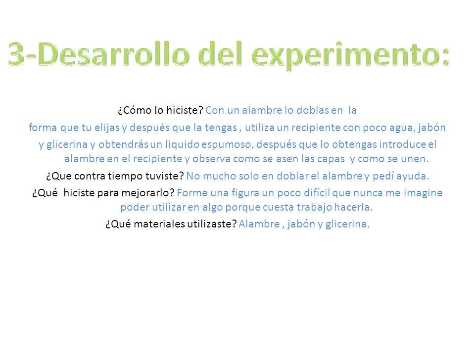 3-Desarrollo del experimento:
