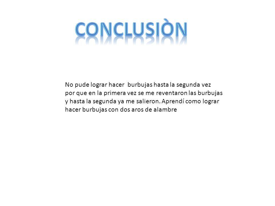 conclusiòn