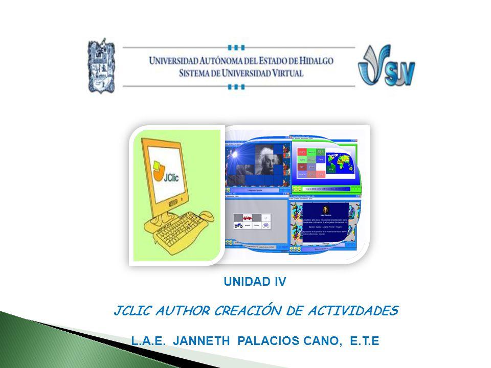 JCLIC AUTHOR CREACIÓN DE ACTIVIDADES