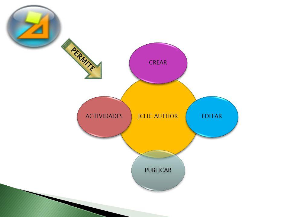 JCLIC AUTHOR CREAR EDITAR PUBLICAR ACTIVIDADES PERMITE