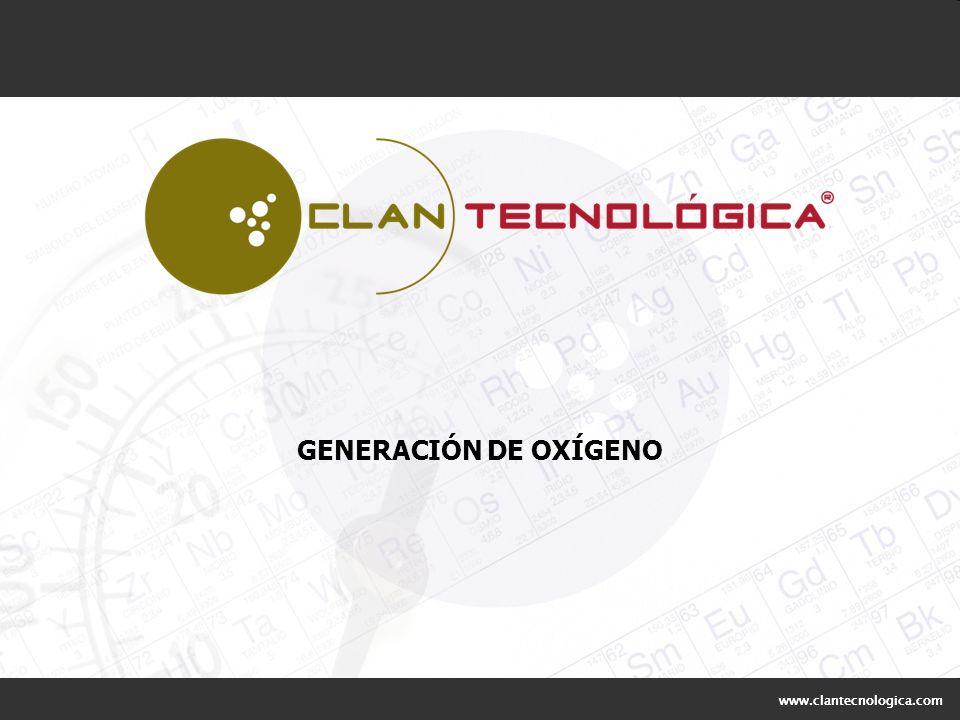 GENERACIÓN DE OXÍGENO www.clantecnologica.com