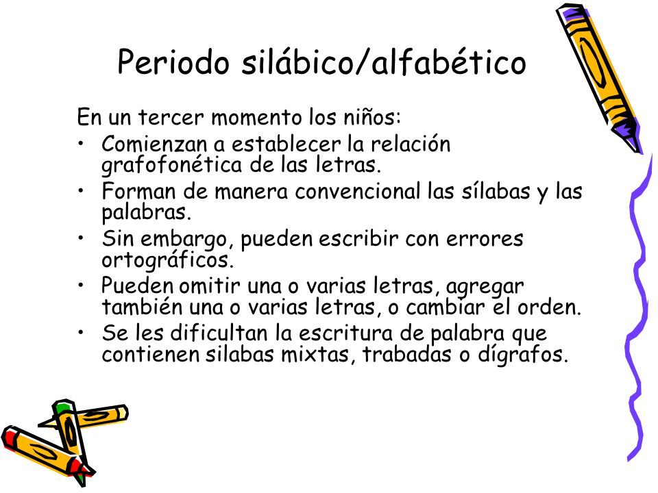 Periodo silábico/alfabético