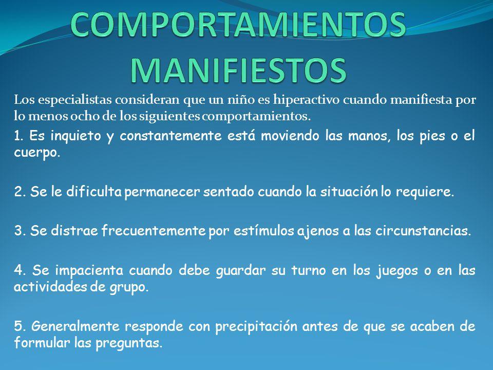 COMPORTAMIENTOS MANIFIESTOS