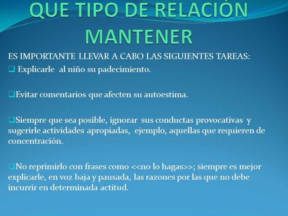 QUE TIPO DE RELACIÓN MANTENER