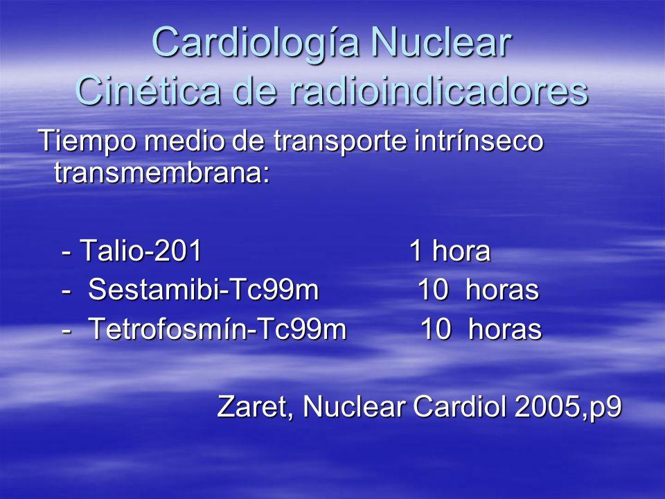 Cardiología Nuclear Cinética de radioindicadores