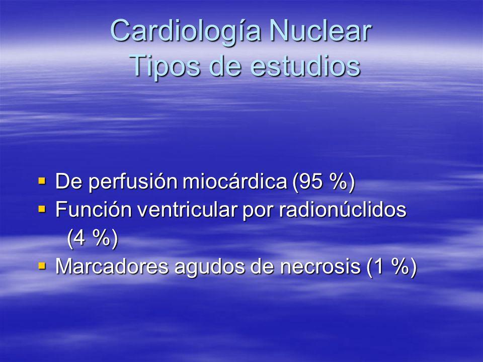 Cardiología Nuclear Tipos de estudios