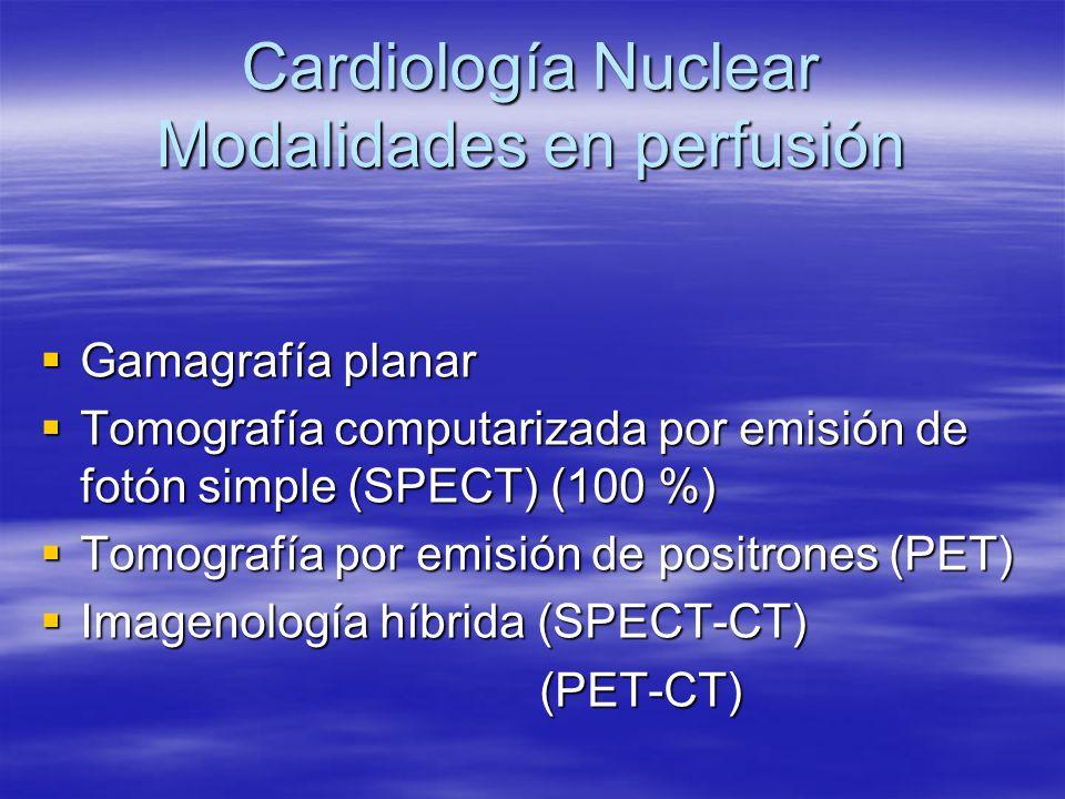 Cardiología Nuclear Modalidades en perfusión