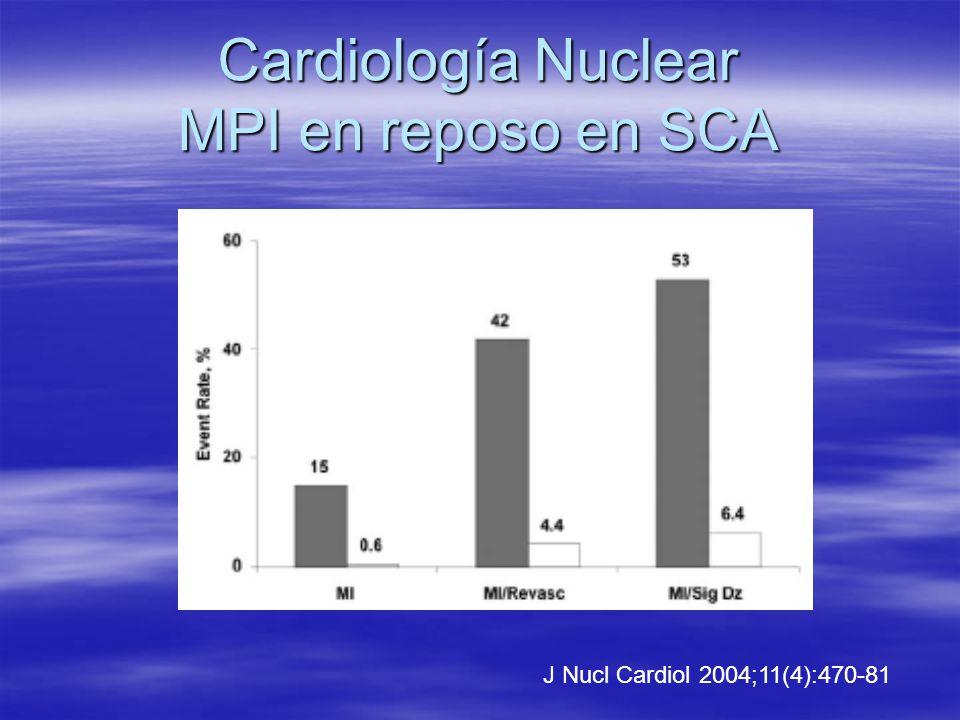 Cardiología Nuclear MPI en reposo en SCA