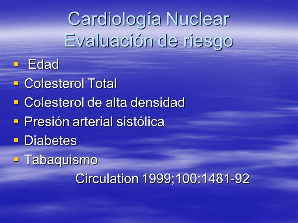 Cardiología Nuclear Evaluación de riesgo