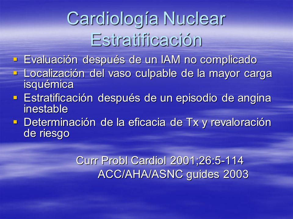Cardiología Nuclear Estratificación