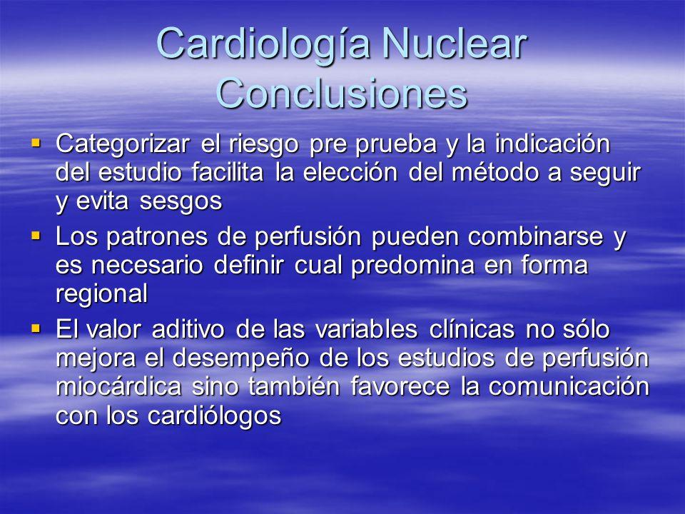 Cardiología Nuclear Conclusiones