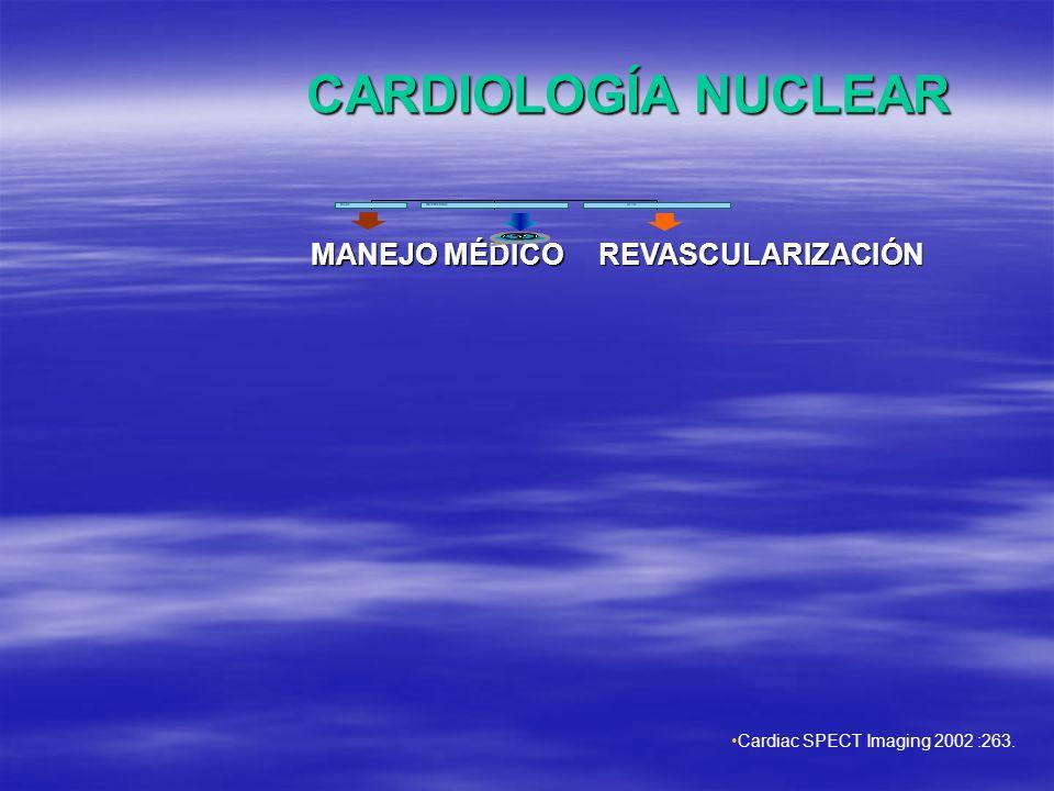 CARDIOLOGÍA NUCLEAR MANEJO MÉDICO REVASCULARIZACIÓN