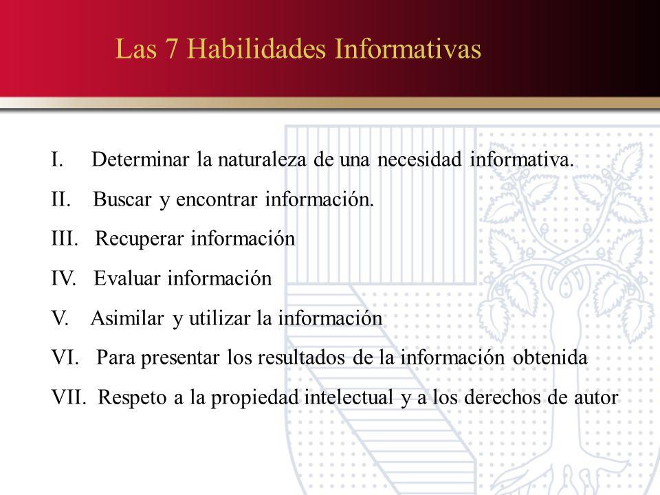 Las 7 Habilidades Informativas