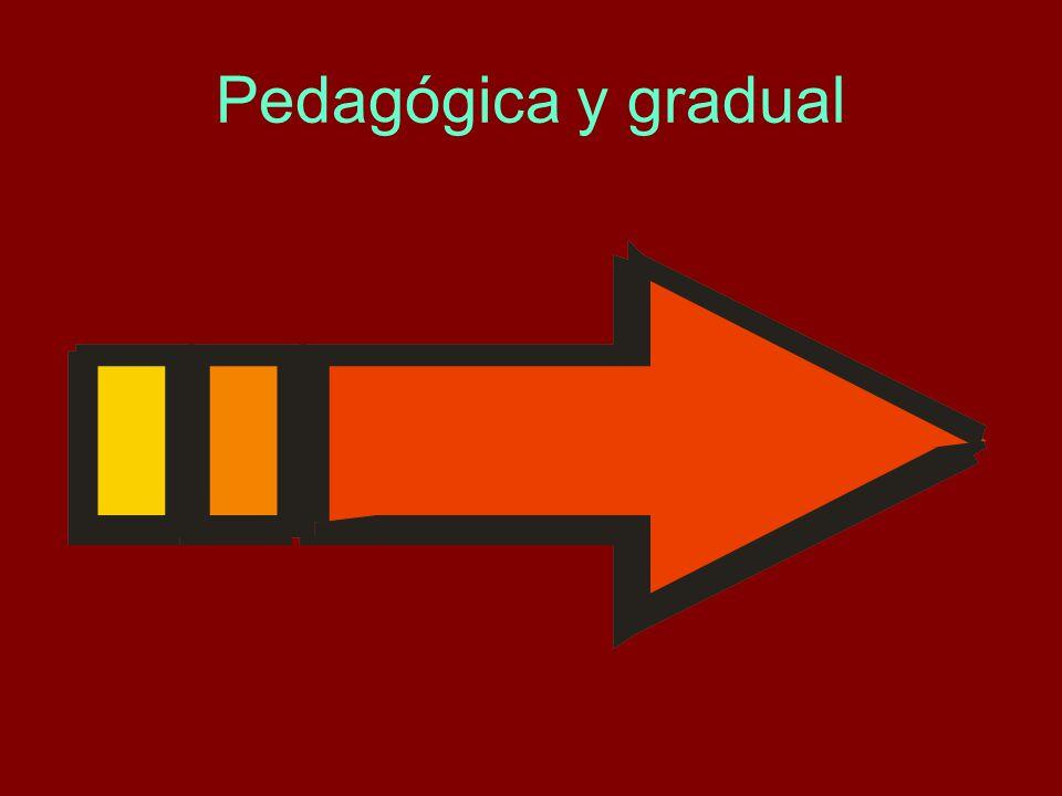 Pedagógica y gradual