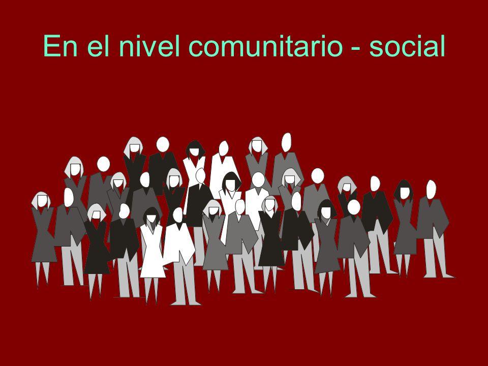 En el nivel comunitario - social
