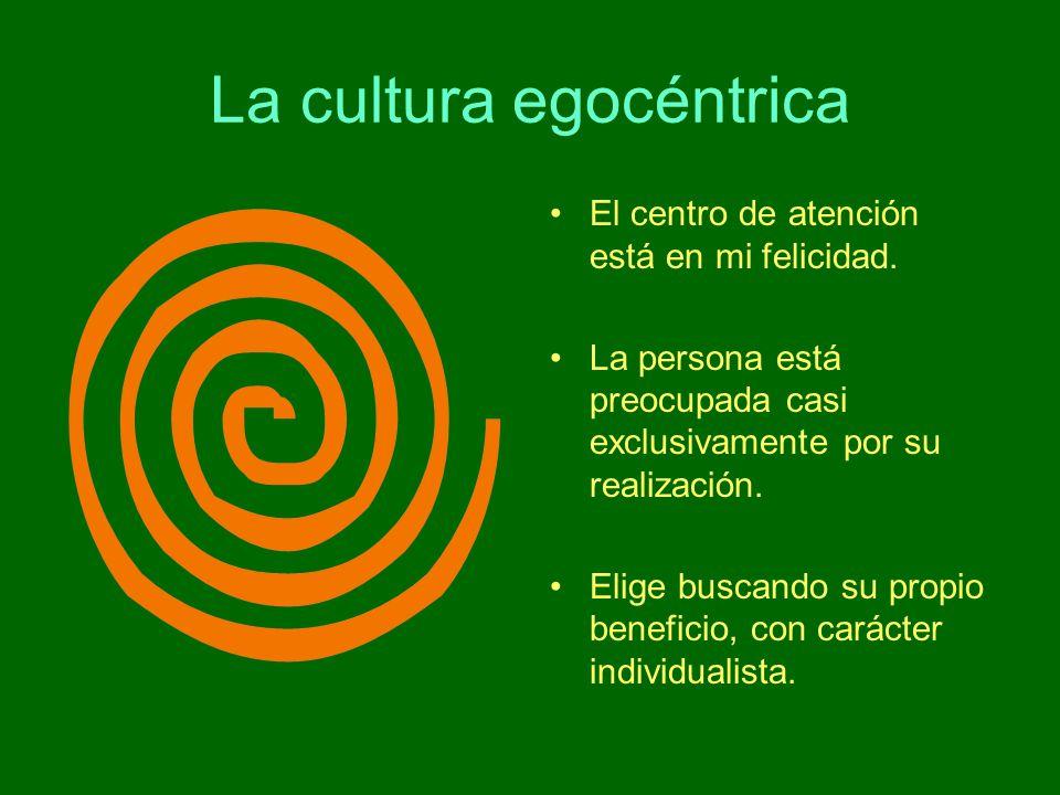 La cultura egocéntrica