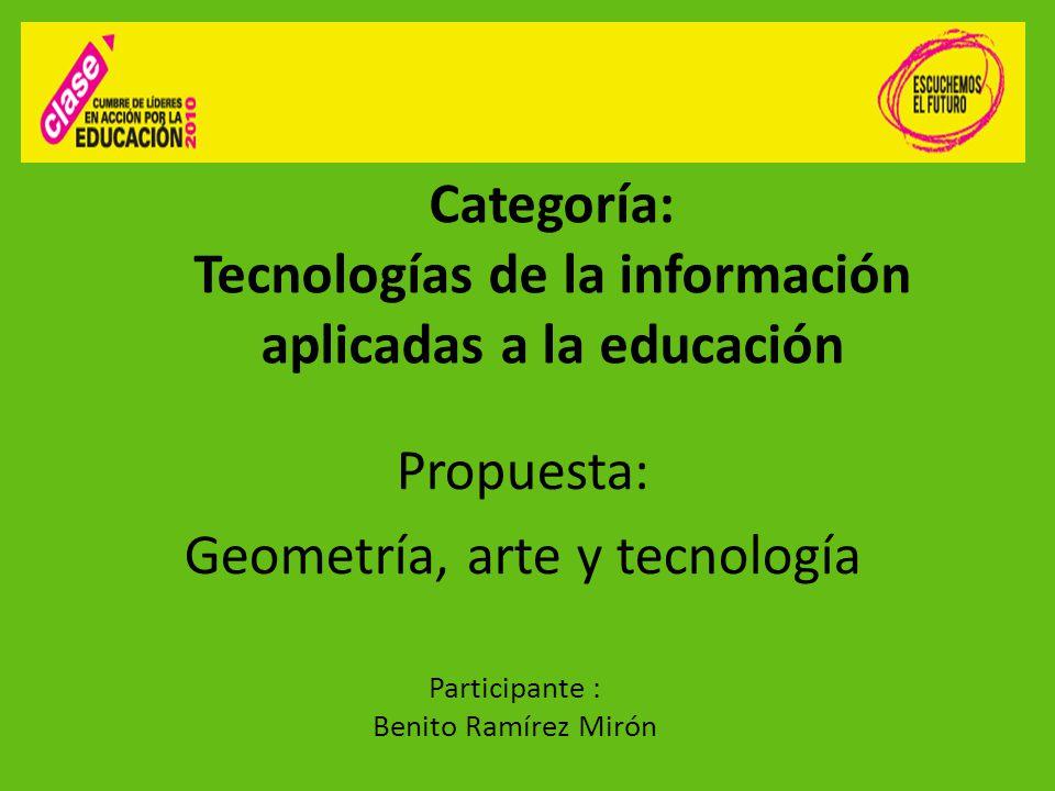 Categoría: Tecnologías de la información aplicadas a la educación