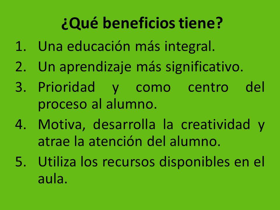 ¿Qué beneficios tiene Una educación más integral.