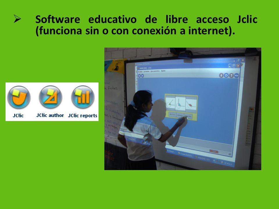 Software educativo de libre acceso Jclic (funciona sin o con conexión a internet).