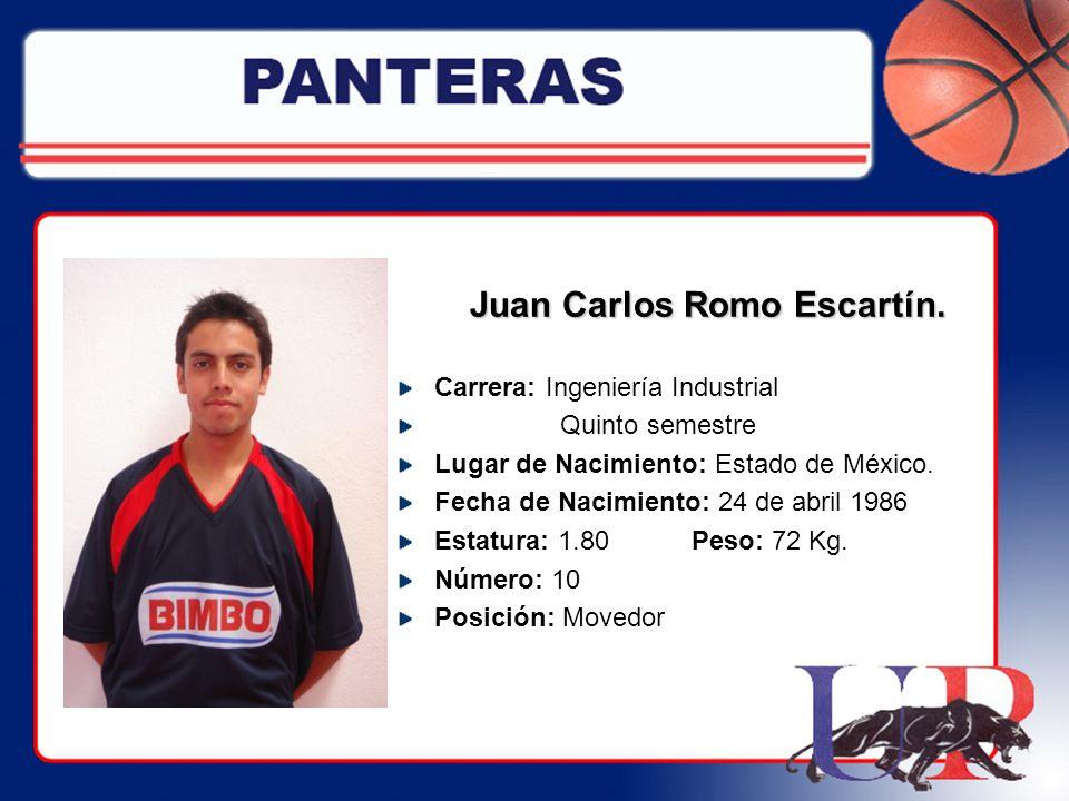 Juan Carlos Romo Escartín.