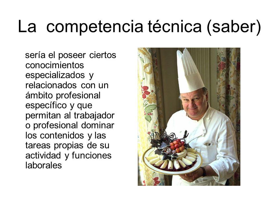 La competencia técnica (saber)