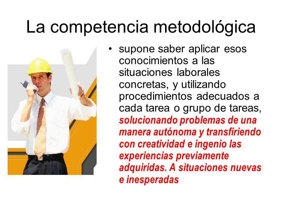 La competencia metodológica