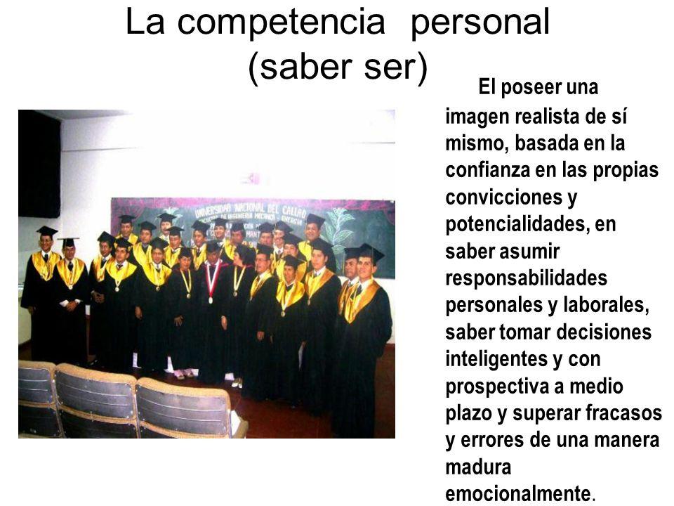 La competencia personal (saber ser)