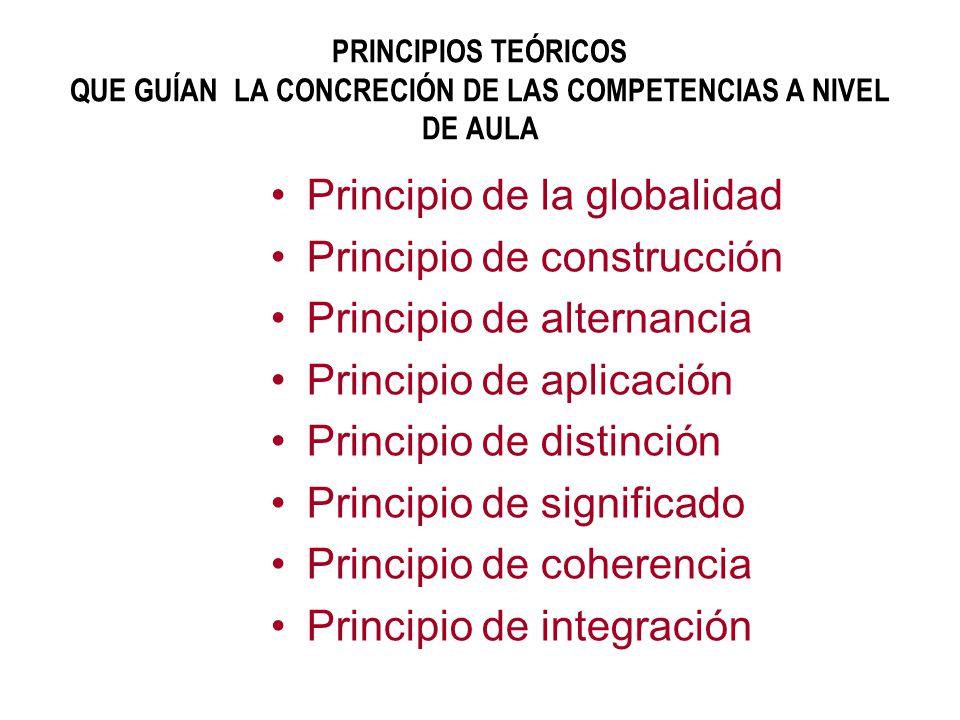 Principio de la globalidad Principio de construcción