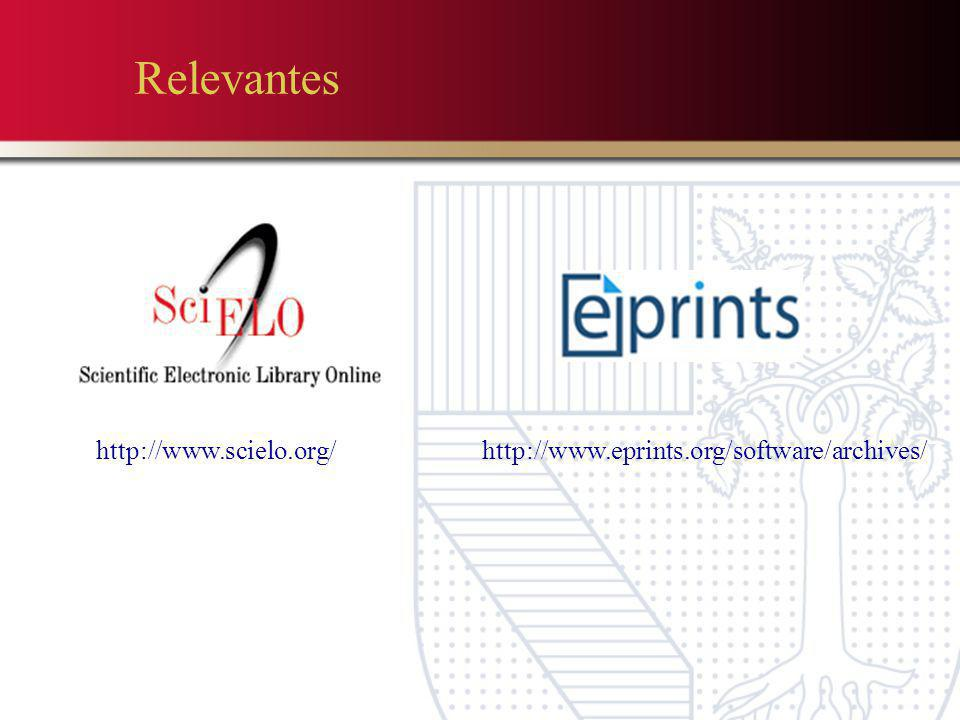 Relevantes http://www.scielo.org/