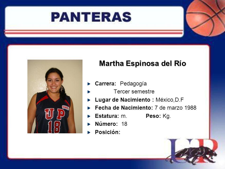 Martha Espinosa del Río