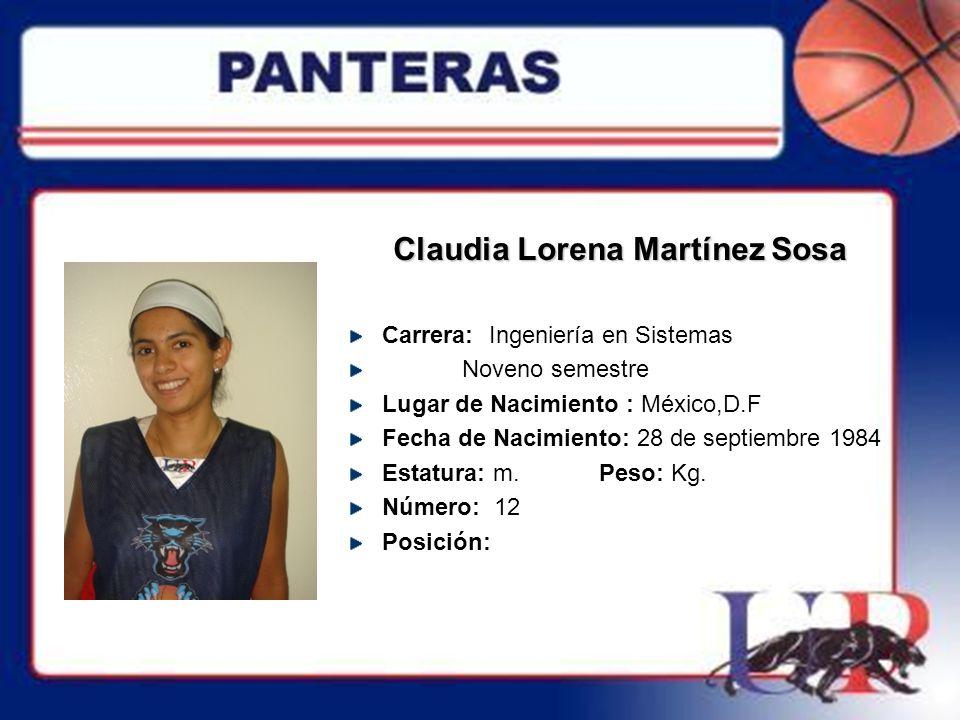 Claudia Lorena Martínez Sosa