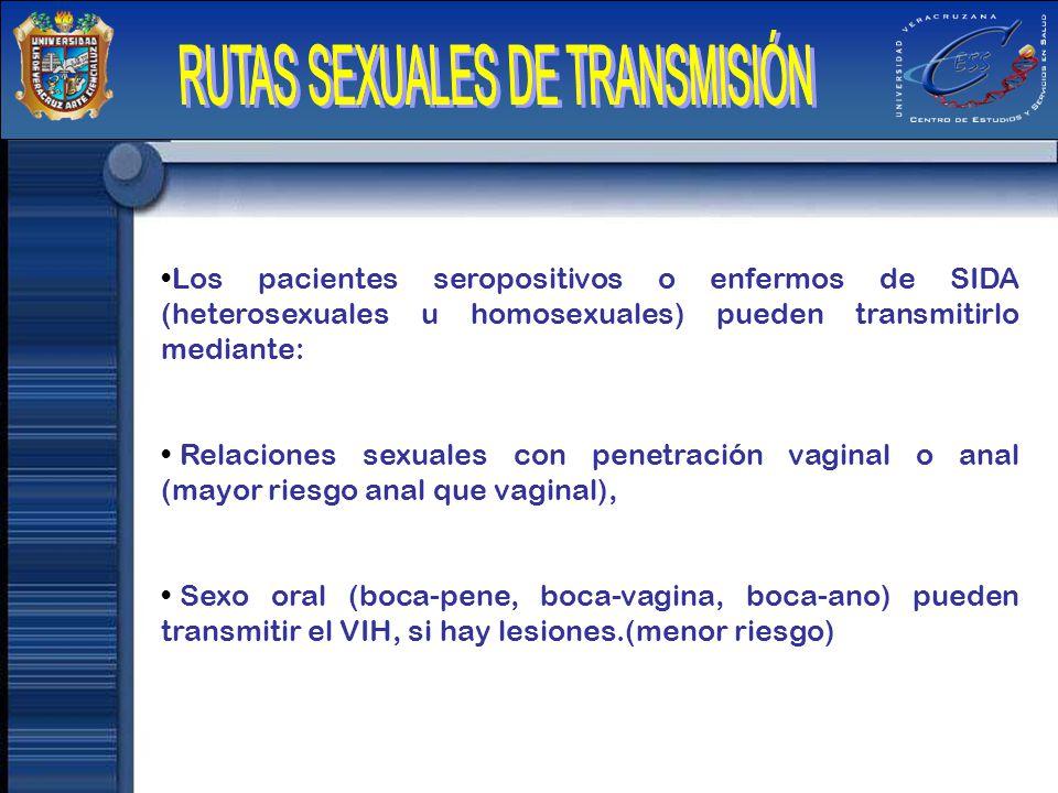 RUTAS SEXUALES DE TRANSMISIÓN