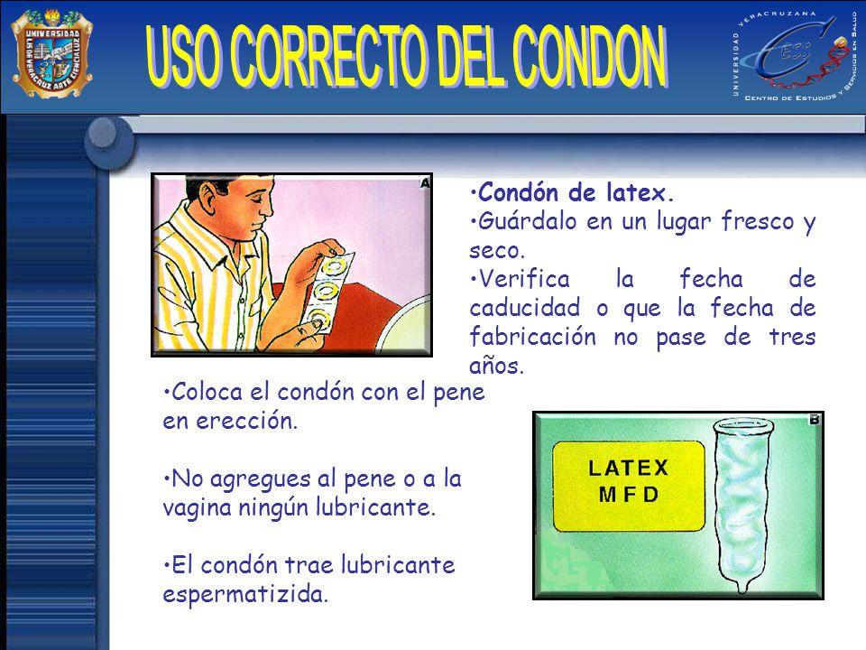 USO CORRECTO DEL CONDON