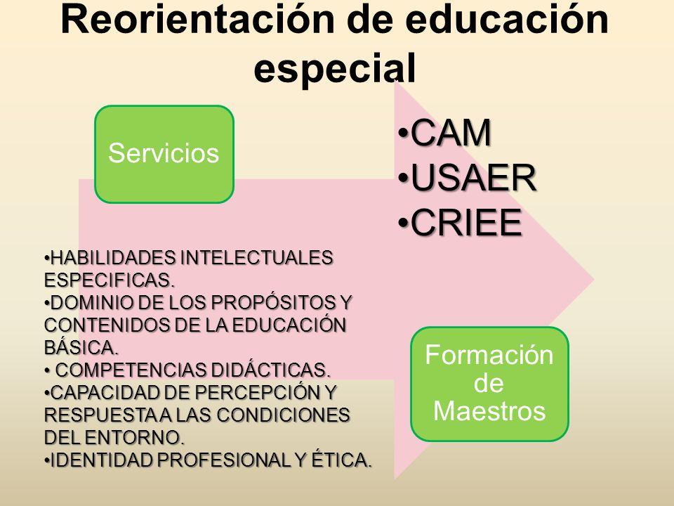 Reorientación de educación especial