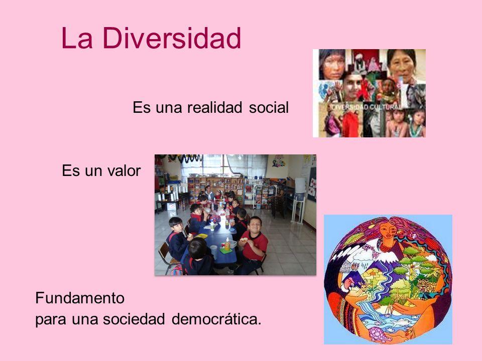 La Diversidad Es una realidad social Es un valor Fundamento