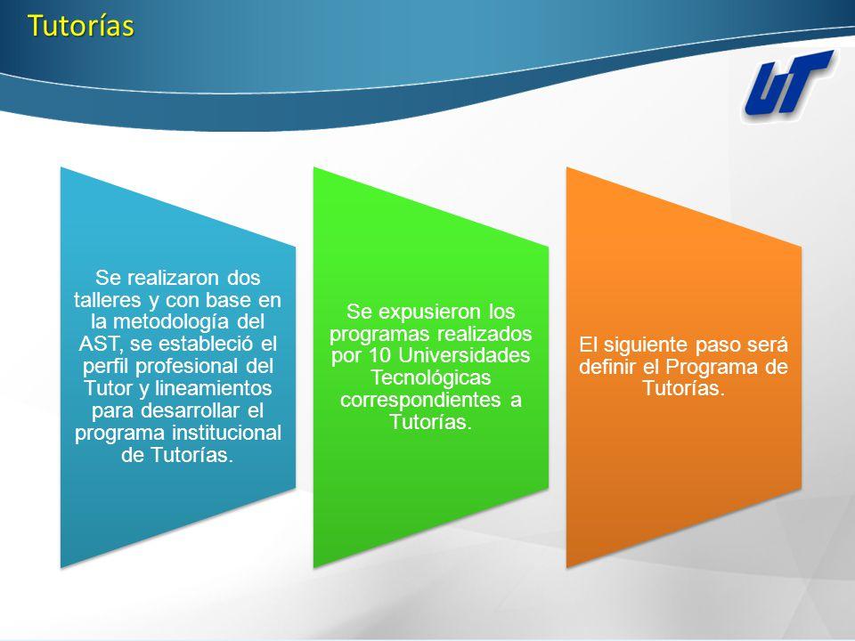 El siguiente paso será definir el Programa de Tutorías.
