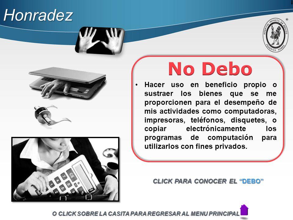 Honradez No Debo.
