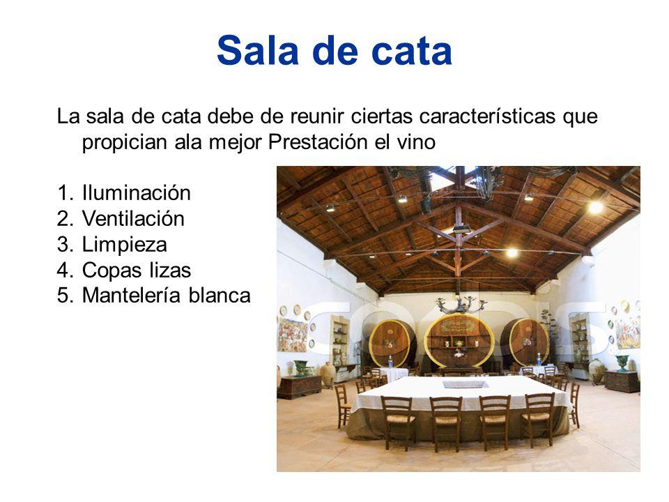 Sala de cata La sala de cata debe de reunir ciertas características que propician ala mejor Prestación el vino.