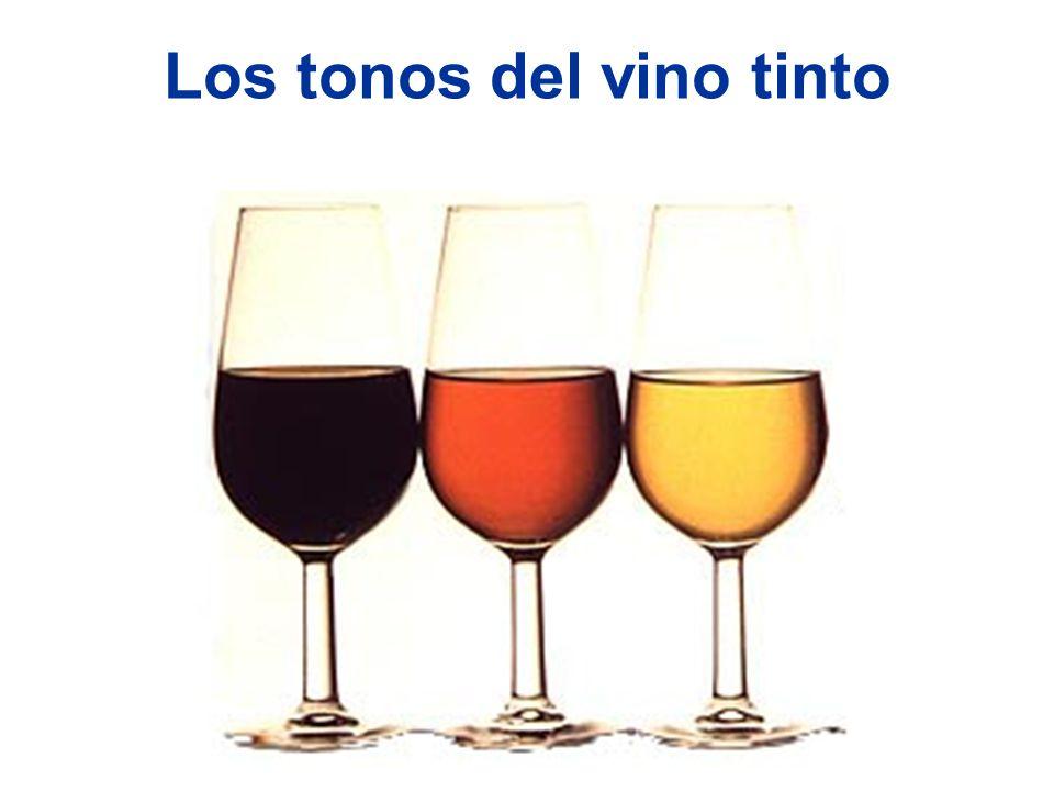 Los tonos del vino tinto