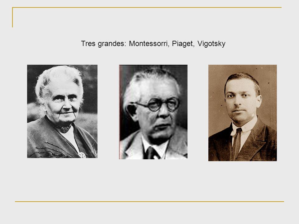 Tres grandes: Montessorri, Piaget, Vigotsky