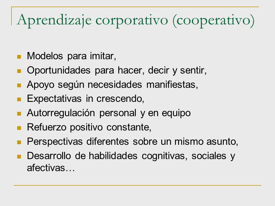 Aprendizaje corporativo (cooperativo)