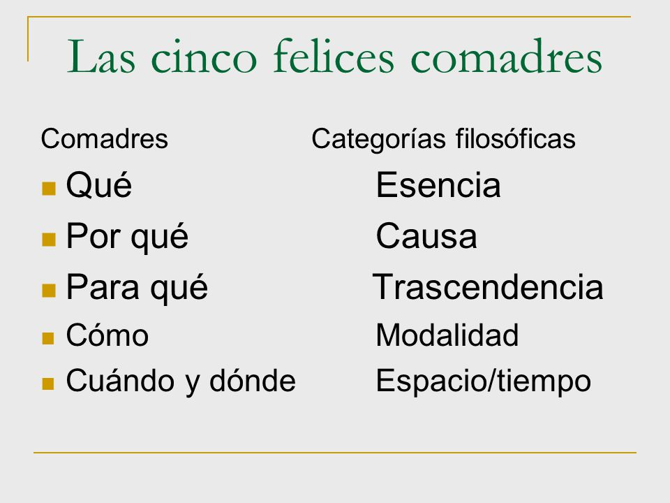 Las cinco felices comadres
