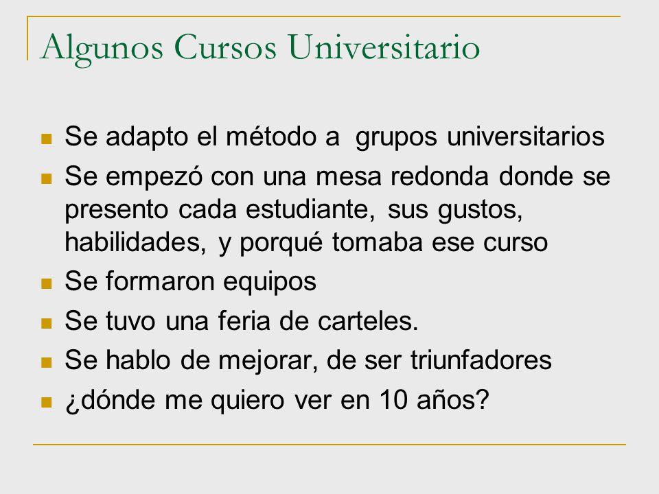 Algunos Cursos Universitario