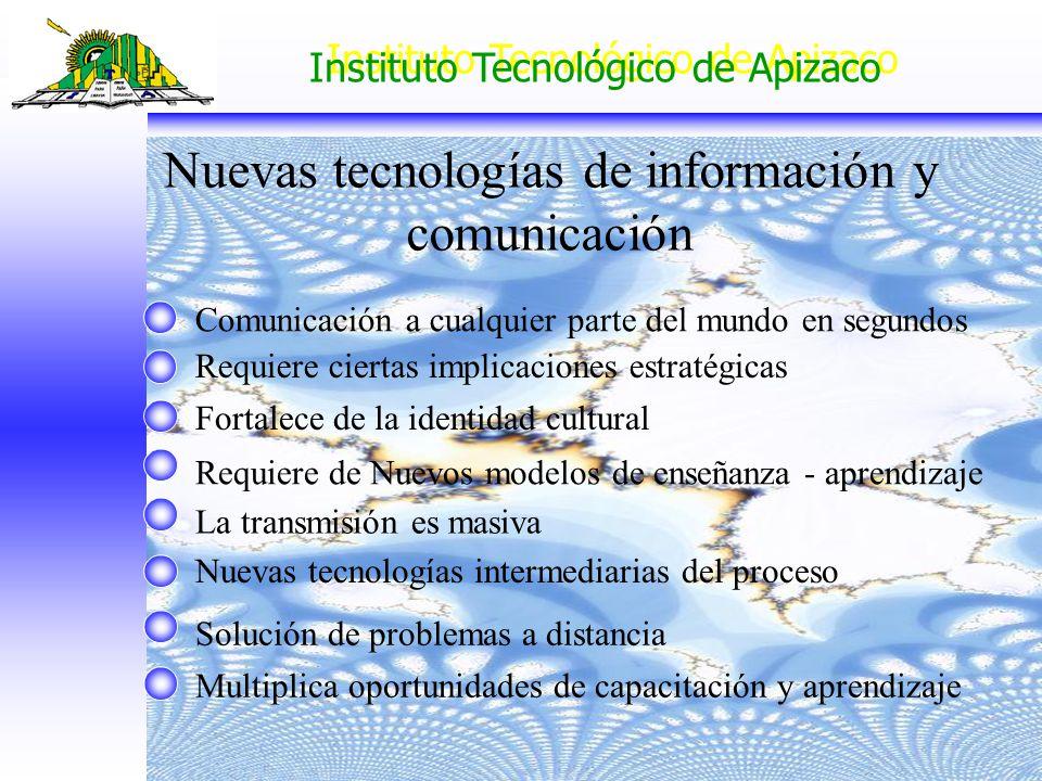 Nuevas tecnologías de información y comunicación